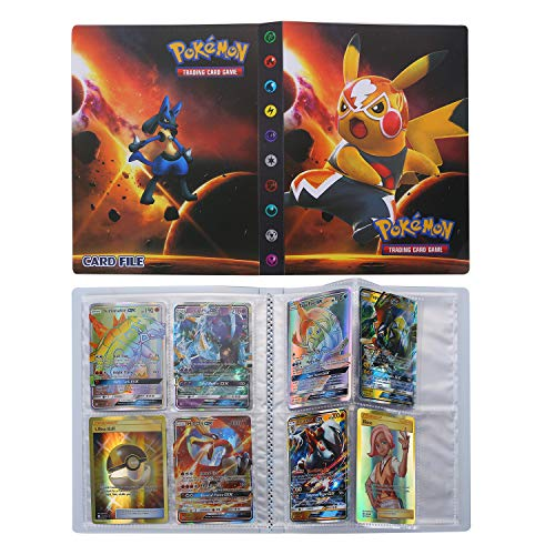 Pokémon Carte Album, Pokemon Cartes Titulaire, Albums de Cartes à Collectionner, Classeur pour Cartes Album Livre Protection (Pikachu)