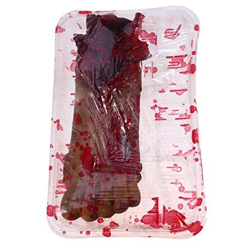 Amosfun Halloween Bloody Props Gefälschte Menschliche Füße Mahlzeit Box Körperteile für Haunted Scary Halloween Party Dekorationen Supplies