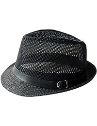 Zhiyuanan Cappello Di Paglia Fedora Jazz Sun Cap Casual Cappelli Estivi  Traspiranti Per Esterni In Panama 95d0cb166e0c