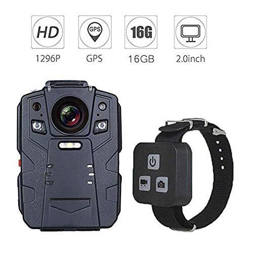 JFW-HD 1296P Polizei Kamera IR Nachtsicht Videorecorder 16 GB Fernbedienung Körper Abgenutzte Kamera GPS mit Fernbedienung,C - Polizei-videorecorder