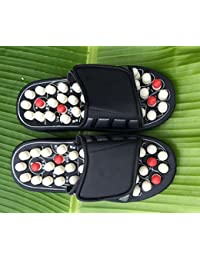 Akruti Foot Massage Slippers Health Shoe Sandal Massages Reflexology Feet Elderly Healthy Care Product Rest Pebble...