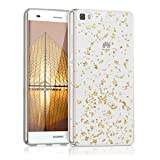 kwmobile Huawei P8 Lite (2015) Hülle - Handyhülle für Huawei P8 Lite (2015) - Handy Case in Gold Transparent