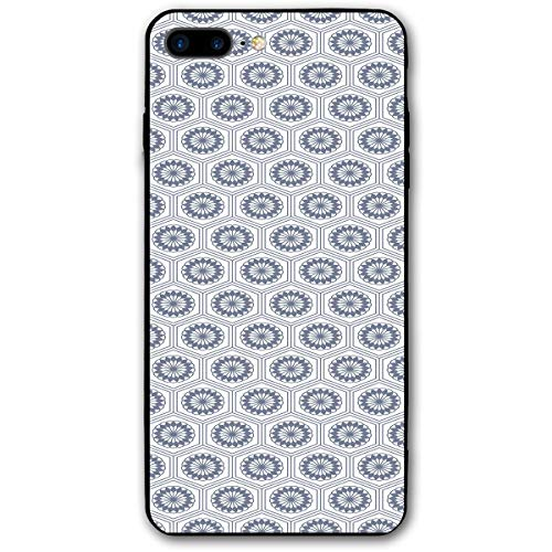 ZZHOO Compatible with iPhone 7/8 Plus Case, Comb Design Kikko Tortoise Shell Pattern Western Asian Influences Hexagon Motifs,Anti-Scratch Shock Absorption Protective Cover