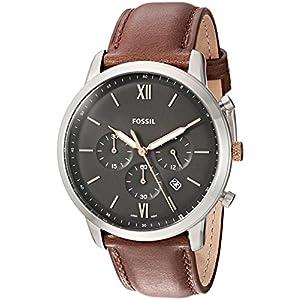 Fossil Herren Analog Quarz Uhr mit Leder Armband FS5408