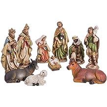 Belén de Navidad con Reyes Magos de Resina Beige clásico para decoración navideña ...