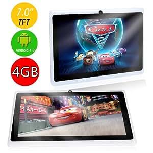 Allwinner - Tablette Android 4.0.3 Écran Tactile 7 Pouces A13 1.0Ghz Cpu (Jusqu'À 1.5Ghz Max). Dernière Version De L'Os Ice Cream Sandwich. Tablette Pc 4Gb Hdd 512Mb Wifi Mid Epad Flash Player 11.1 - Compatible Avec Bbc Iplayer / Youtube / Facebook (Blanc) De Dx-Mall