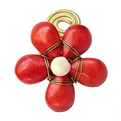 Bague fantaisie ajustable réglable fleur perles pierre au choix Rouge, Bleu Turquoise ou Blanc