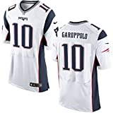 10 Jimmy Garoppolo Trikot New England Patriots Jersey American Football Shirt Mens Elite White Size L(44)