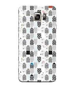 PrintVisa Designer Back Case Cover for Samsung Galaxy S6 Edge+ :: Samsung Galaxy S6 Edge Plus :: Samsung Galaxy S6 Edge+ G928G :: Samsung Galaxy S6 Edge+ G928F G928T G928A G928I (Black White Patches Design)