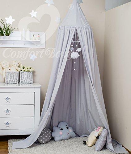 ComfortBaby ® Babybett-Himmel - Höhe: ca. 2,4 m (Leinen)