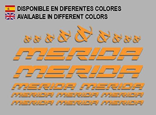 Ecoshirt AC-MS7E-PDI7 Aufkleber Merida Frame Set Bikes F150 Stickers Aufkleber Decals Autocollants Adesivi MTB BTT, Orange