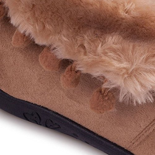 Padders Eskimo Donna in pelliccia sintetica Extra Wide (ee), Pantofole Cammello Camel