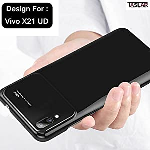 Taslar® Hybrid Hard PC Case Protector Back Cover for Vivo X21 UD (Black)