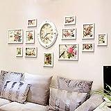 KXBYMX Photo frame European wall clock foto parete creativo soggiorno camera da letto photo frame decorazione della parete multi-schermo combinazione - photo wall