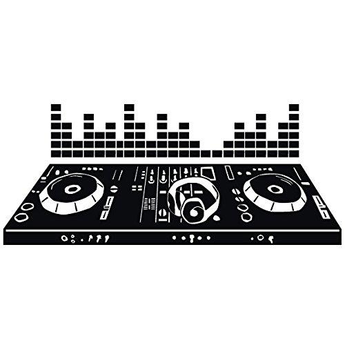 Wadeco DJ Pult Mischpult Wandtattoo Wandsticker Wandaufkleber 35 Farben verschiedene Größen, 192cm x 80cm, pink