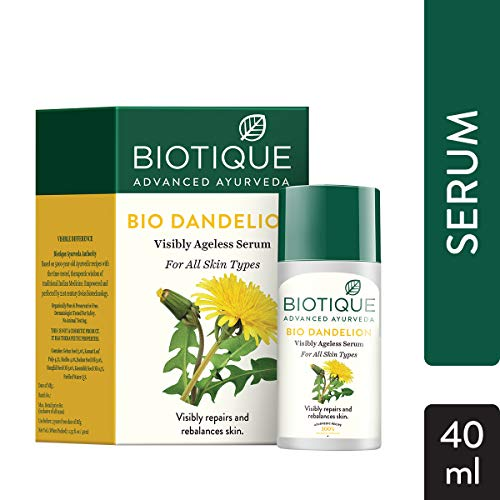 Biotique Bio Dandelion Visibly Ageless Serum, 40 ml