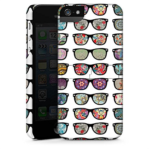 Apple iPhone 5 Housse étui coque protection Lunettes hipster Hipster CasStandup blanc