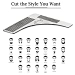 Kaiercat® Stainless Steel Beard Shaping Tool and Scissors Kit for Beard Trimming and Grooming, Gifts for Father's Day… 10