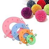 Trayosin 4 Groesse Pom Pom Maker Sets DIY Pompoms Handwerk Werkzeug Set Pompom Maker für Muetzen Schals Kleidung Strickmuetze Basteln