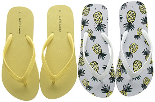 New Look - Pinapple, Sandali Donna Yellow (Bright Yellow)
