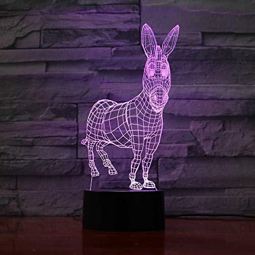 orangeww 3D Licht Nachtlampe/Schlafzimmer Nachtlampe/Usb Led Nachtlicht/Bewegungssensor Licht/Unter Küchenschränke Raumlampe/Ideal Kunst Und Handwerk Esel