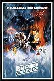 1art1 Star Wars Poster und Kunststoff-Rahmen - Episode V, Das Imperium Schlägt Zurück, Filmplakat (91 x 61cm)