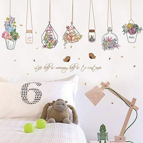(Wandsticker Kaktus Bonsai Topfblume Pflanzen Wandaufkleber Dekorative Aufkleber Wohnkultur Küche Fenster Wohnzimmer Dekor Aufkleber Als Geschenk für den Black Friday)