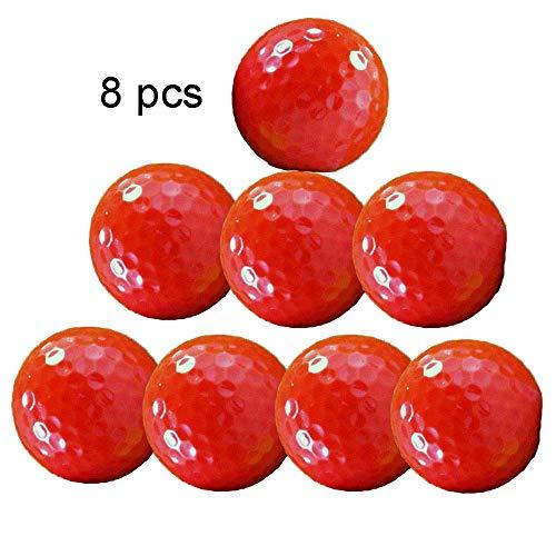 Bequem Golf Farbe DREI-Schicht-Golf-Spiel Red Ball Solid Color verschleißfesten synthetischen Kautschuk Golfball für Männer Frauen Jungen Mädchen, Packung mit 8 dauerhaft -