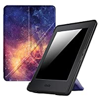 Fintie Origami Case for Kindle Paperwhite - The Thinnest and Lightest PU Leather Cover for All-New Amazon Kindle Paperwhite (Fits All versions: 2012, 2013, 2015 and 2016 New 300 PPI), Galaxy