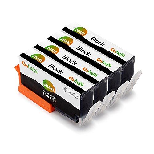 Gohepi 364xl (4 nero) compatibili cartucce hp 364 xl per hp photosmart 5520 6520 5510 7520 7510 6510 5515 b110,premium c309 c310 b8550 b8850,hp officejet 4620 4622 4610,hp deskjet 3070a 3520 3522