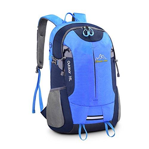 Schulrucksack Bonibol 35L Wasserdichte Wanderrucksäcke mit große Kapazität Reiserucksack Damen Herren Daypack für Outdoor Sport, Camping und Reisen