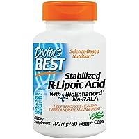Doctor's Best, Stabilized R-Lipoic-Acid (R-Liponsäure), 100mg, 60 Veg. Kapseln preisvergleich bei billige-tabletten.eu