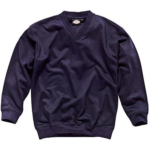 Preisvergleich Produktbild Dickies Sweatshirt mit V-Ausschnitt, Größe S, marineblau, 1 Stück, SH11150 NV S