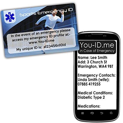 Läufer Notfall ID-Pocket Sicherheit-in Case of Emergency Ice sendet SMS Warnungen, zu nächsten Angehörigen der und speichert Kontakt Telefon keine. E-Mail und Medical Zustand. Vollständig wasserdicht.