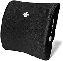 Desk Relief® Lumbar Cushion Lumbar Support - Memory Foam Back Support for Office, Car, Travel - Lower Back Pain Sciatica...