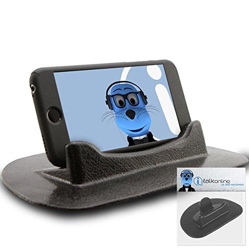 iTALKonline HTC P3600i Schwarz Klebrig (KEIN KLEBER) Mat Anti-Rutsch In Auto Armaturenbrett Schreibtisch Tabelle vertikal / horizontal Halter