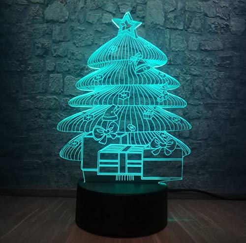 Led Usb Luz De Noche Iluminación De Rgb Dormitorio Lámpara De Sueño Niño Bebé Regalo De Año Decoración Para El Hogar Regalo De Navidad ()