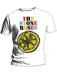 Official T Shirt THE STONE ROSES White BIG LEMON Multi M