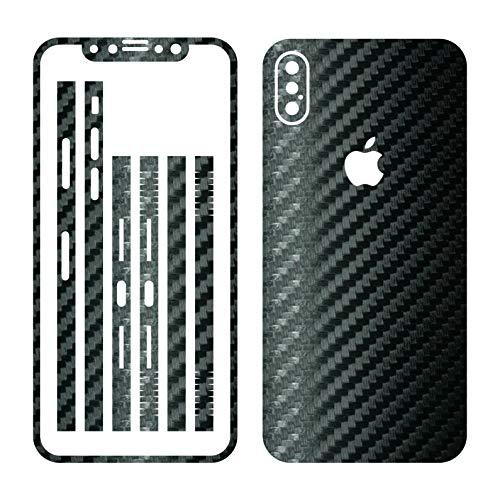 Leuchtkäfer Werbetechnik iPhone X SCHWARZ Carbon Folie Skin ZUM AUFKLEBEN Bumper case Cover schutzhülle i Phone