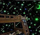 ILOVEDIY 40/100Pcs Ajourée Muraux Etoiles Phosphorescentes Autocollantes Plafond Glow Lumineux Fluorescents Déco Pépinière Chambre de Bébé Enfant