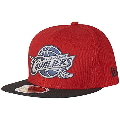 New Era Women's Baseball Cap 59Fifty Cleveland Cavaliers GER Team Chrome hot red Black Gr. 7 5/8