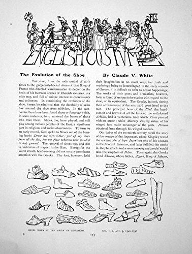 Drucken Sie Englisches Kostüm, welches die Entwicklung Des Schuhes 4 1914 173Q139 Paginiert