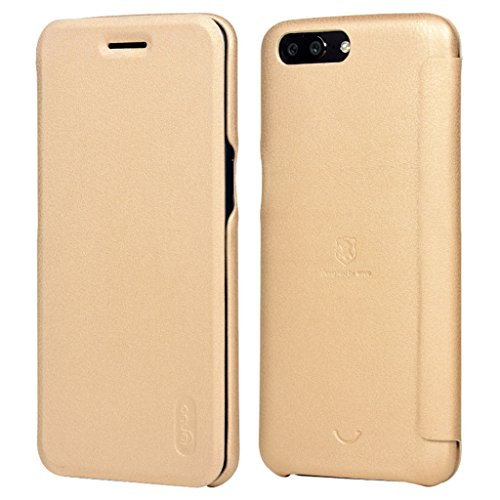 OnePlus 3 A3000/3T Hülle - Vollständiger Schutz Soft Basis Folio Flip Schutzhülle Leder Cover Tasche mit Kartenfach für OnePlus 3 A3000/3T - Schwarz Gold