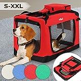 Leopet Hundebox aus Stoff - Faltbar und Tragbar, Größenwahl und Farbwahl, abwaschbar, für Hunde, Katzen und Kleintiere - Hundetransportbox, Auto Transportbox, Transporthuette