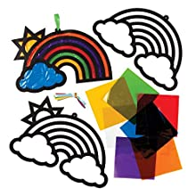 Rainbow Stained Glass Decorations Kits (Pack of 6)