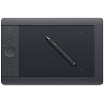 Wacom PTH-651-ENES Intuos Pro Graphics Tablet - Medium, Black