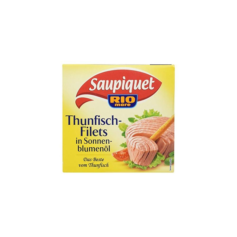 Saupiquet Thunfischfilet In Sonnenblumenl 8er Pack 8 X 185 G Packung