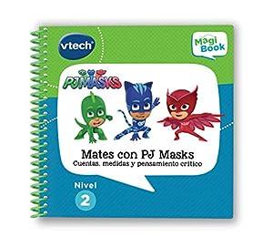 VTech MagiBook PJ Masks, Libro Interactivo Educativo Que refuerza el Aprendizaje en Diferentes materias, a través de más de 40 Actividades y 4200 interacciones (3480-480122)