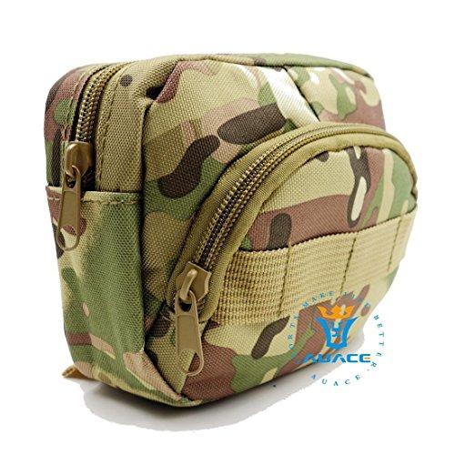 Multifunktions Survival Gear Tactical Beutel MOLLE POUCH Utility Assault Zubehör Tasche, Outdoor Camping Tragbare Travel Bags Handtaschen Werkzeug Taille Bag Handy Pouch CP