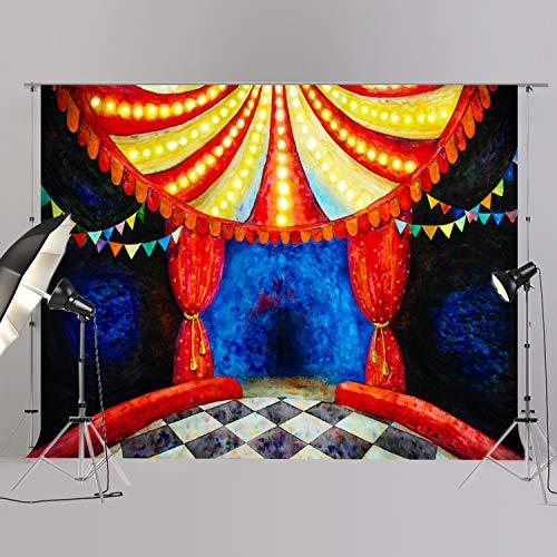 joypark Circus Zelt Foto Booth Hintergrund für Party Dekorationen Supplies Fotografie Rückseite Drop für Baby-Dusche Oder Geburtstag Bilder Vinyl Requisiten, XT6697, 8x6ft(250x185cm)